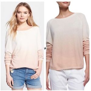 Vince Ombre Long Sleeve Knit Wool Cashmere Sweater